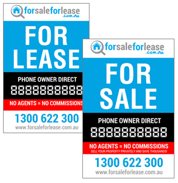For Sale For Lease Signage